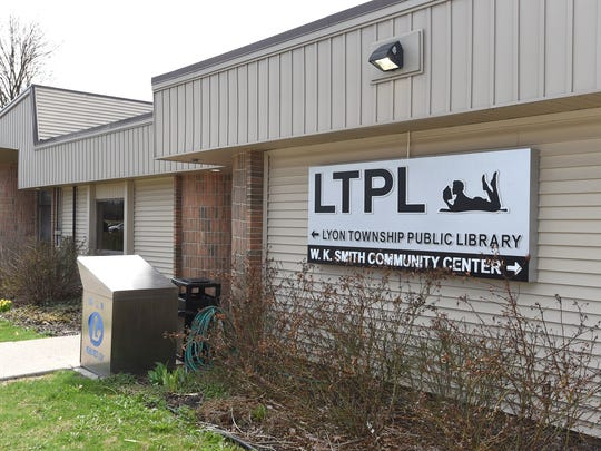 The Lyon Township Public Library on Milford Road.
