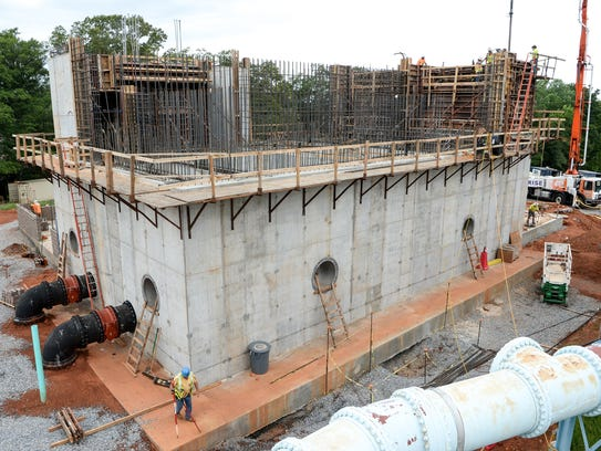 A new ozone treatment center, expected to be complete