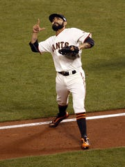 Sergio Romo is back for his third World Series as a crucial reliever for the Giants.
