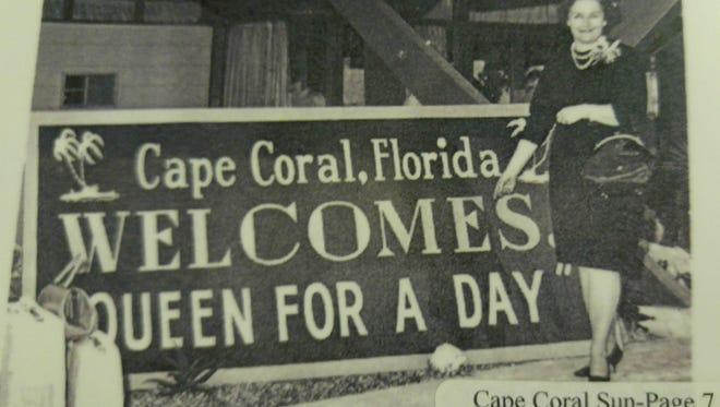 In 1963, Mary Trinosky won the 'Queen for a Day' title and a trip to Cape Coral.