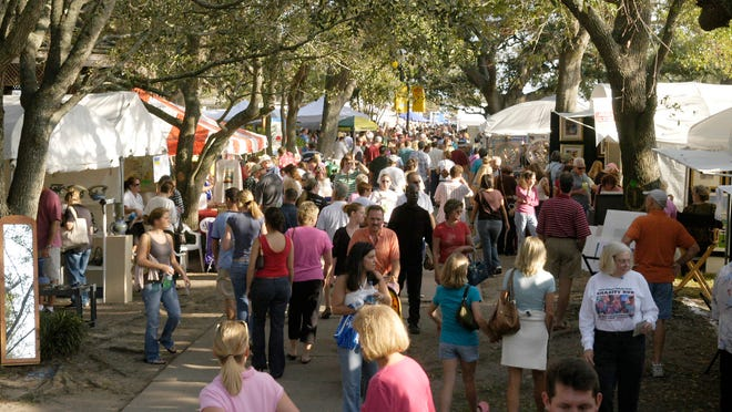 Thousands will flock to Seville Square this weekend for the Great Gulfcoast Arts Festival.