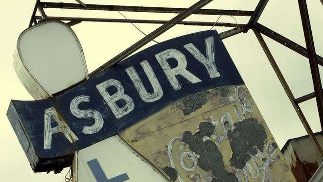 The famous marquee of Asbury Lanes.