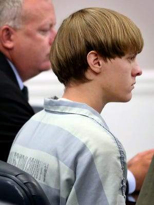 Dylann Roof appears July 16, 2015, at a court hearing in Charleston, S.C.