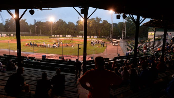 Fans attend the Prospect League All-Star Home Run Derby Tuesday, July 7, 2015, on John Cate Field at McBride Stadium in Richmond.