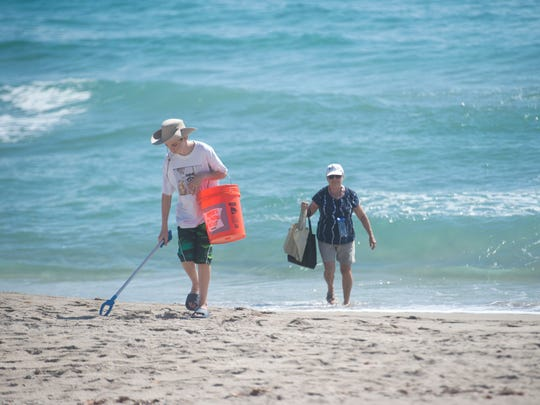 Stuart Sunrise Rotary Club's Beach Cleanup is this weekend at the House of Refuge Museum. Last year, several people volunteered their time to remove trash from Stuart Beach.