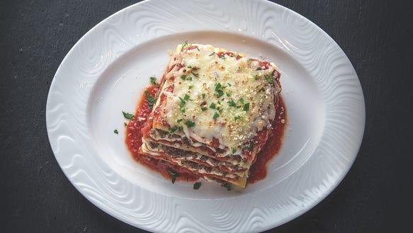 The lasagna at Bella Italiana at Potawatomi Hotel &