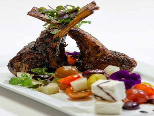 Double lamb chops at dish Creative Cuisine in Palm Springs.