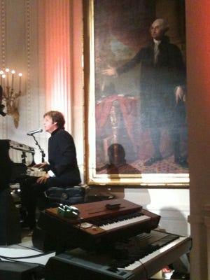 Paul McCartney, 2010, at the White House.