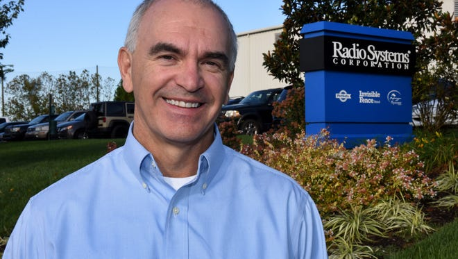 Chris Chandler with Radio Systems Corporation is a Financial Executive of the Year for Knoxville Business Journal. Chandler is at his office in West Knoxville Monday, Oct. 16, 2017.