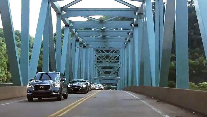 Single-lane alternating traffic will be in place on the Sewickley Bridge Monday and Tuesday so crews can install signs, PennDOT said.