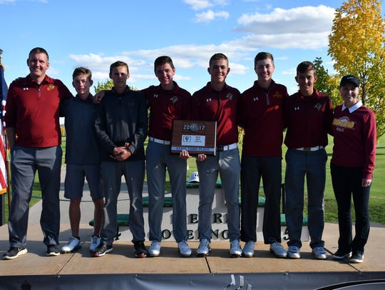 The Roosevelt golf team, which finished third at the