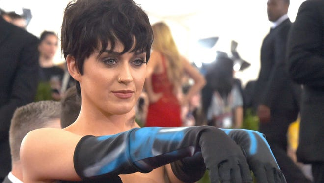 Katy Perry at the 2015  Metropolitan Museum of Art's Costume Institute Gala in May.