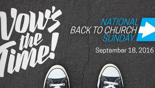 National Back to Church Sunday is Sept. 18.