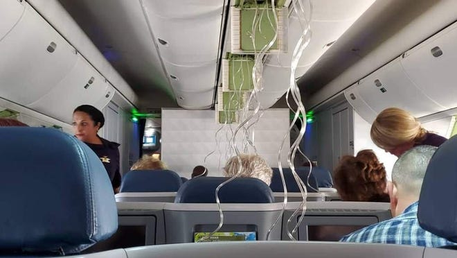 Brandon Tomlinson and passengers on Delta Flight 2353 had to have an emergency landing at Tampa International Airport after the plane dropped nearly 30,000 feet in seconds.