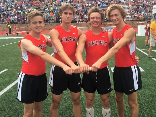 Pinckney's county-record 800-meter relay team consisted
