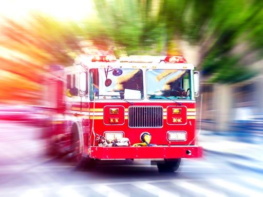 Fire department truck.