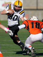 Cascade running back Garrett Coffey (30) was the 4A offensive player of the year this season.