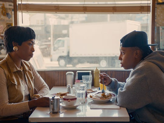 Denise (Lena Waithe, right) comes out as gay to her mom (Angela Bassett) in a moving scene lifted almost directly from Waithe's life.