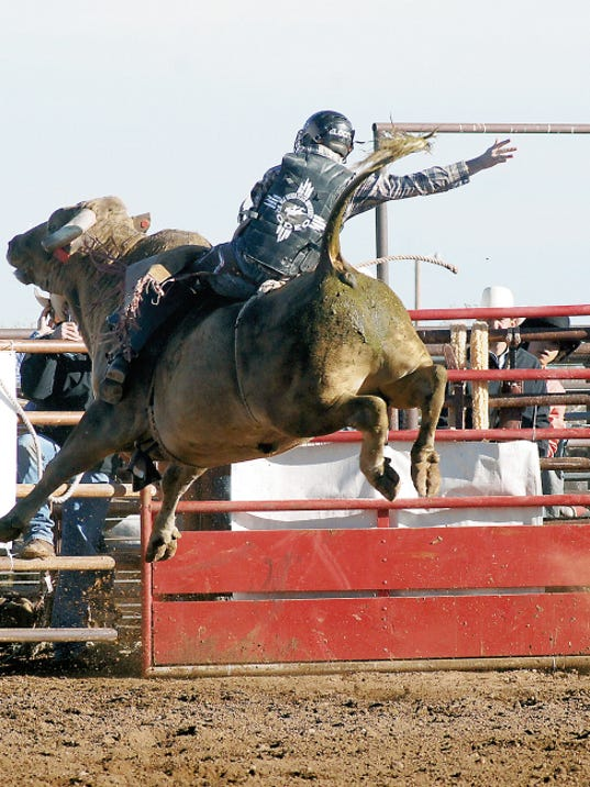 Headlight File Photo   Expect big air during the Wild, Wild West Pro Rodeo bull riding competition this weekend at Southwest Horseman's Park in Silver City. Pete Carr's rodeo stock will provide the thrills and spills today and Saturday.