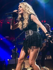Carrie Underwood, shown here performing in London,