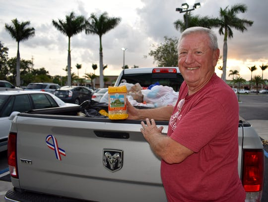 Retired Air Force Col. Martin Zickert collected donations