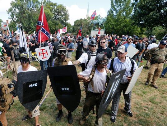 AP CONFEDERATE MONUMENTS PROTEST A USA VA