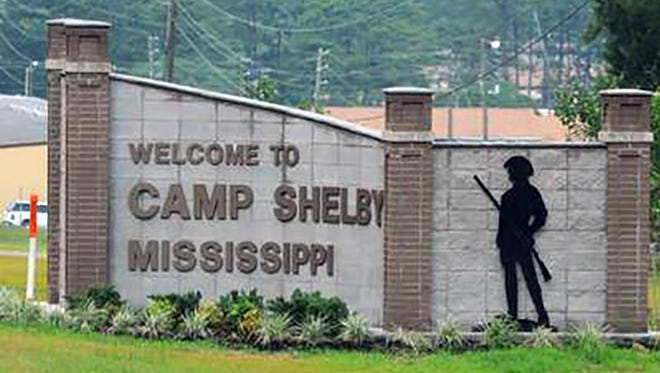 A two white men in a pickup truck are accused of firing on soldiers at Camp Shelby Joint Forces Training Center outside of Hattiesburg, Miss.