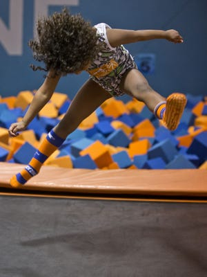 Julianna Fagan of Neptune City leaps at Sky Zone in Ocean Township.