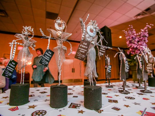 First place trophies for the 2016 Runway Repurposed