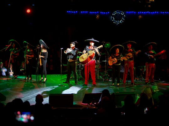 Pudding Proof Band Winner, Mariachi Juvenil de mi Tierra, perform at Alice Cooper's Christmas Pudding Fundraiser concert at the Celebrity Theatre in Phoenix, Saturday, December 9, 2017.