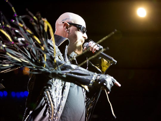 Judas Priest's Rob Halford performs at Alice Cooper's