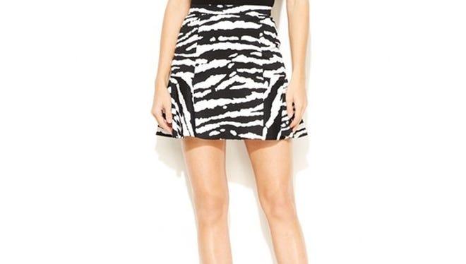 MICHAEL Michael Kors animal-print flounce skirt, $59.99, macys.com.