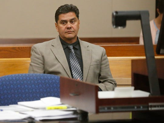 Former Bowie High School Principal Jesus Chavez sits in court last year waiting for proceedings to begin.