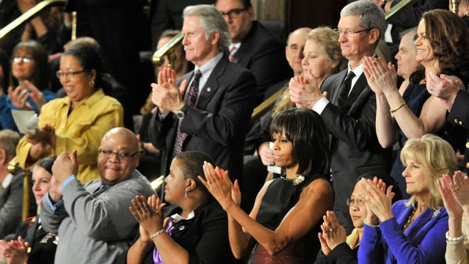 First lady Michelle Obama at last year's State of the Union.