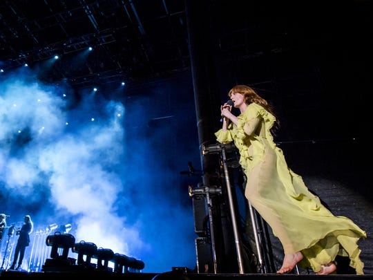 Florence and The Machine in 2016, becoming the first female-fronted act to headline the Firefly Music Festival.