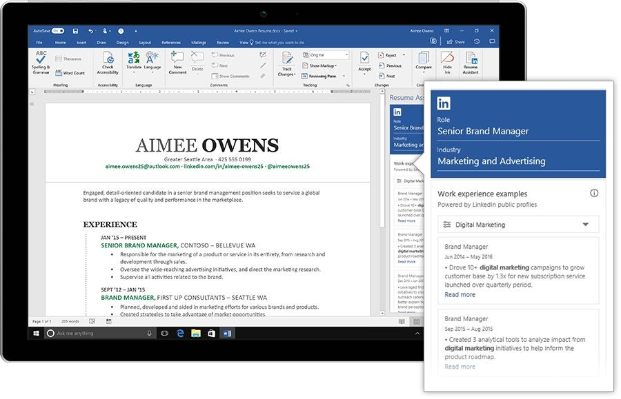 Good LinkedIn And Microsoft Can Help You Craft A Resume And Linkedin Resume