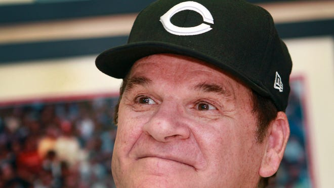 Former Cincinnati Reds player Pete Rose, baseball's all-time hits leader, signed autographs for two hours July 26, 2011, at the Collectors Den in Castleton Square Mall in Indianapolis.