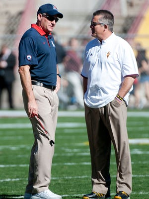 Both Arizona coach Rich Rodriguez and Arizona State's Todd Graham could be facing unemployment after the 2017 season.