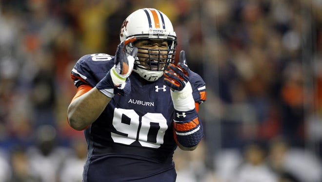 Auburn defensive tackle Gabe Wright.