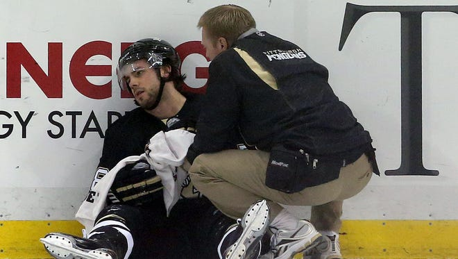 Pittsburgh Penguins defenseman Kris Letang is out with a concussion.