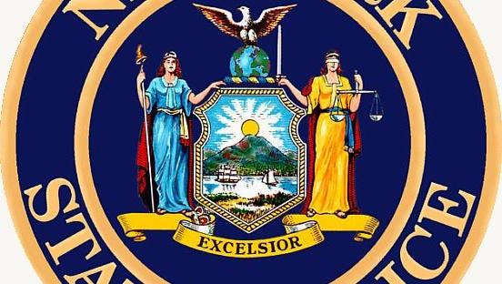 New York State Police logo.