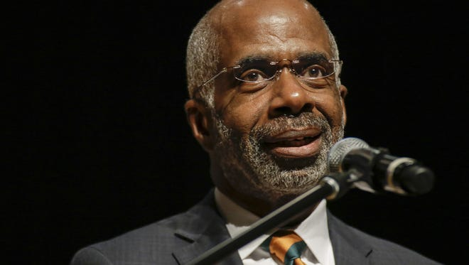 Interim President Larry Robinson speaks during FAMU's Founder's Day Convocation at Lee Hall on October 3rd.
