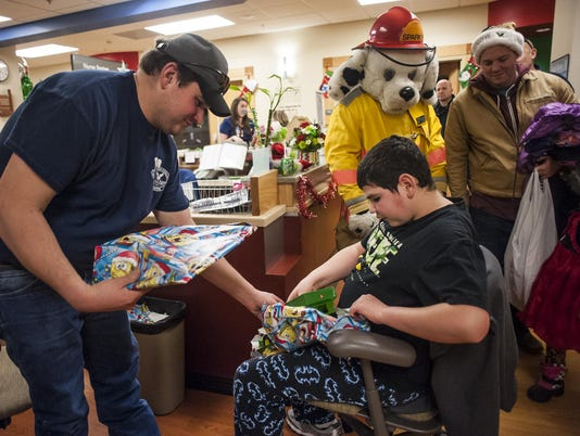 Great Falls Fire Department Delivers Toys