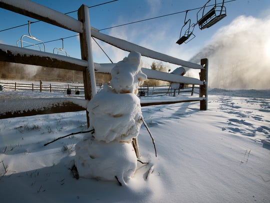 Skiing and snowboarding will open Wednesday.  Snow