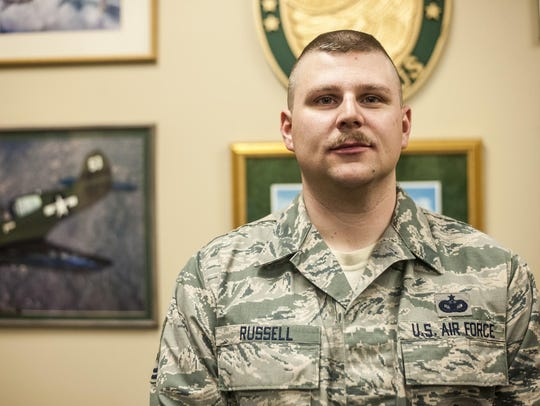 Technical Sgt. Sean Russell helped save 18-month-old