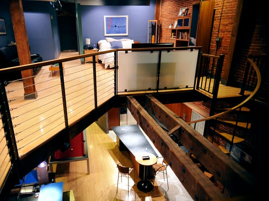 With some help, Jason Bross designed his loft on North George Street.