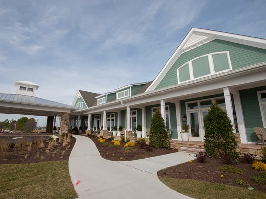 View of the newly built clubhouse at the Peninsula community on Indian River Bay in Millsboro.