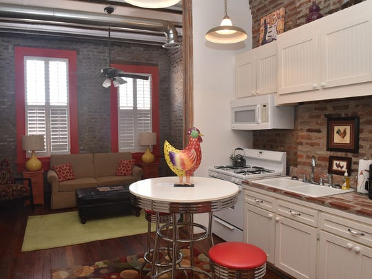 Suites and rooms at The Main Street Hotel in Yazoo City are located on the second floors of buildings and are decorated with a mix of old and new.