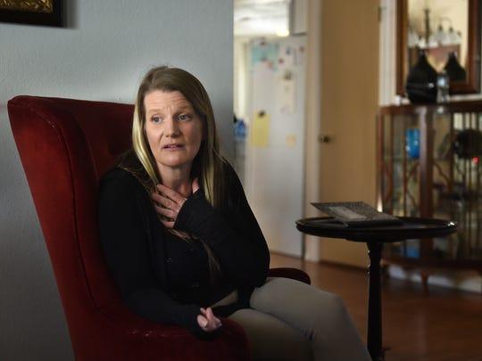Logan Clark's mother Cheryl Pitchford speaks to the