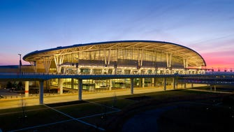This file photo provided by the Indianapolis International Airport shows the airport's terminal building.